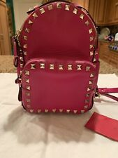 Valentino Garavani Pink Rockstud Leather Mini Backpack. Pre-owned.Condition 9/10