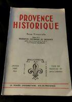 Provence historique . Janvier Mars 1964.tome  XIV. fascicule 55.