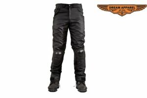 Men's Motorcycle Textile Pants with Hard Kneecaps Protector & Reflective Piping