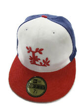 LRG True Heads New Era 59Fifty Red White Blue Fitted Hat Size 7 1/8 L Logo
