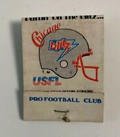 1984 Chicago Blitz USFL Football Schedule Match Book Cover Puttin On The Blitz