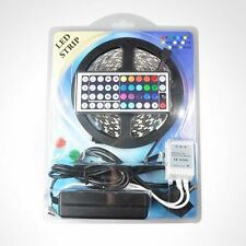 5M Waterproof 5050 Led RGB 300 LED Strip + 44key Remote + 12V 5A Power Supply