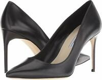 Brian Atwood VALERIE Pump Black Leather Pointed Toe Dress Pumps