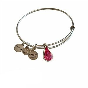 Alex and Ani Living Water Pink Crystal Expandable Bracelet Russian Silver NWOT