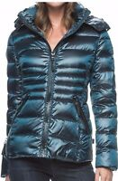 Andrew Marc Women Packable Short Down Jacket Coat Detachable Hood 650 Fill New