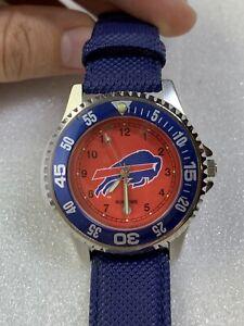 """Buffalo Bills SUN TIME Calendar Watch, 1996 NFLP The Competitor """"BRAND NEW"""""""