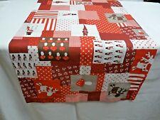 Tischläufer Tischdecke Tischset 40x132cm rot weiß Schneemann Wichtel Weihnachten