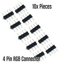4-Pin Header Connectors for 3528 5050 RGB LED Strips Controller - 10 Pack AU