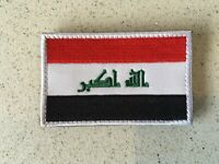 Iraq Flag Embroidery Iron Sewn On Patch 8x5cm Hook &Loop