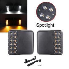 For Jeep Wrangler JL18-19 White Amber LED Side Rear View Mirror Light Spotligt