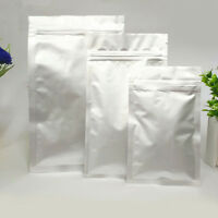 Pure Aluminum Silver Mylar Foil ZipLock Bags Resealable Packaging Bag Food Pouch