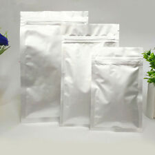 Pure Aluminum Silver Mylar Foil Bags Resealable Packaging Bag Food Pouch