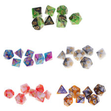 35pcs Polyhedral Dice D20 D12 D10 D8 D6 D4 for Dungeons & Dragons Board Game