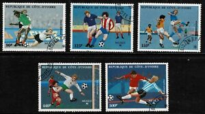 Ivory Coast 1986 World Cup Soccer Championships Airmail Set Of Four - MUH/CTO