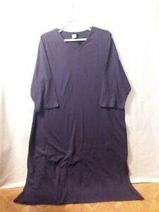 Ulla Popken Nightgown- 100% Cotton - Purple - 24/26