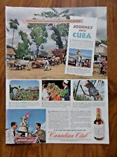 1944 Canadian Club Whiskey Ad Cuba  1944 Camels Cigarettes Ad WW 2 Navy Blimp