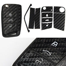Key Fob Carbon Fibre Effect Car Sticker Cover Shell Decal For VW GOLF MK7 S110