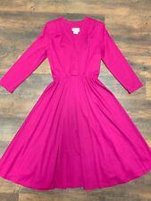 80s Vintage Bee Darlin' V-neck Dress size 10 medium violet purple fit and flare