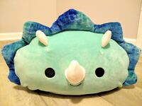 """New 12"""" Squishmallow Stackable Teal Triceratop Dinosaur Teegan Soft plush gift"""