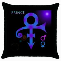 PRINCE SYMBOL BLACK ZIPPERED CUSHION COVER PILOW CASE 114676713