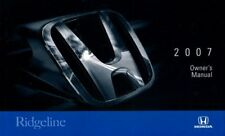 RIDGELINE 2007 OWNERS MANUAL HONDA BOOK