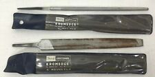 """2 Sears Craftsman Kromedge 6"""" ROund File & Mill File Used 31292 31242 Double Cut"""
