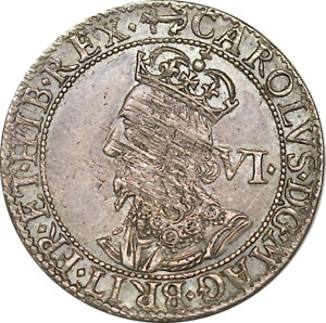 1638-9 Charles I Sixpence Milled Issue