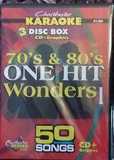Chartbuster karaoke cdg 70s & 80s one hit wonders 3 disc box set 50 pistes