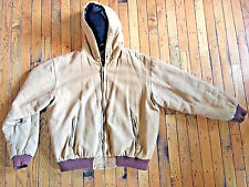 CANYON CREEK HOODED INSULATED LINED DUCK BROWN WORK JACKET SIZE XL bx26