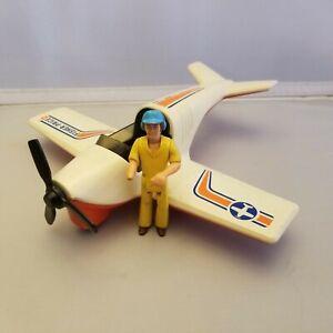 Fisher Price Adventure People Daredevil Sport Plane #306 with Jack Pilot 1974