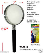 New Reading Magnifying Glass Optical Handle Hand-held magnifier Lens 80mm