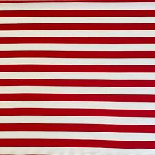 100% Cotton Fabric Red White 1