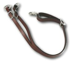D.A. Brand Dark Oil Leather Training Fork Horse Tack Equine