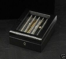 PEN CASE BOX LEATHER ORGANIZER  FOUNTAIN Display Antique PEN COLLECTION