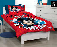 Disney Mickey Mouse Clubhouse Single Bed Quilt Cover Set - Red