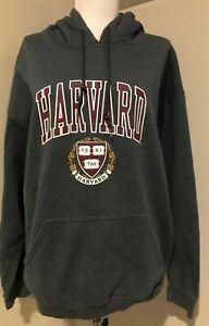 HARVARD Mens Womens Unisex Hooded Sweatshirt Gildan - Sz Large