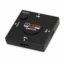 3 Port 1080P HDMI Switch Switcher Splitter video SELETTORE Hub Box HDTV PS3 DVD