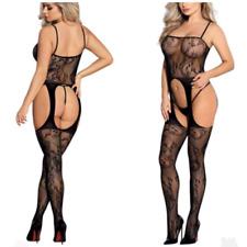 Sexy temptation lingerie suspender bodystocking crotchless bodysuit nightwear