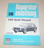 Reparaturanleitung VW Golf I Diesel - ab Baujahr 1976!