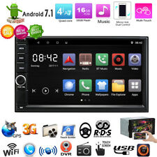 "Android 7.1 Double DIN 7"" Car Stereo Player GPS Sat Nav DAB+ OBD2 WiFi 4G Radio"