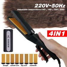4 in 1 Adjustable Hair Crimper Crimping Straightener Waver Curler Ionic Ceramic