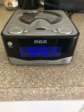 Rca Dual-Wake Cd Player - Am/Fm Radio Alarm Clock with Battery Back-up - Works