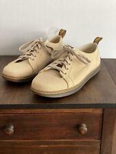 Dr. Martens Walker AirWair Tan Canvas Lace Up Sneakers Shoes Men's Size US 10