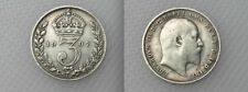 Collectable 1907 King Edward VII Silver Threepence