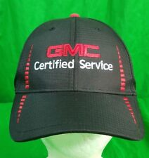 GMC Certified Service Hat Black Red Strapback Cap