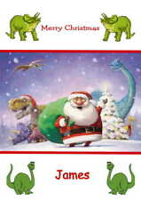 Personalised Dinosaur Christmas Card