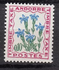 TIMBRE TAXE  ANDORRE FRANCE NEUF  N° 47  **  FLEURS DES CHAMPS