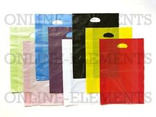 250 Plastic Die Cut Handle Shopping Carry Gift Bags-BLUE 500x350+100mm gusset