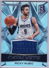 RICKY RUBIO 2016-17 Spectra CATALYSTS Refractor GAME-USED Jersey SP 97/149 Hot!