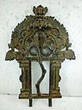 Antigue Original Old Brass Hindu God /Cobra/More Statue Plate Home Decor